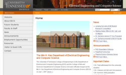 Department of Electrical Engineering and Computer Science at the University of Tennessee at Knoxville, USA