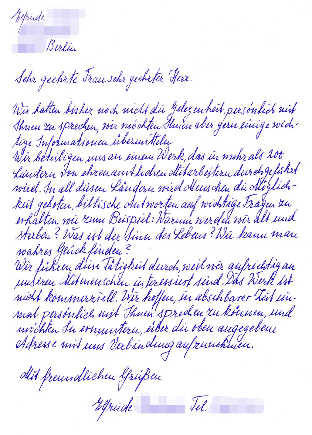 Handwritten Letter Layout Handwritten Letter Example