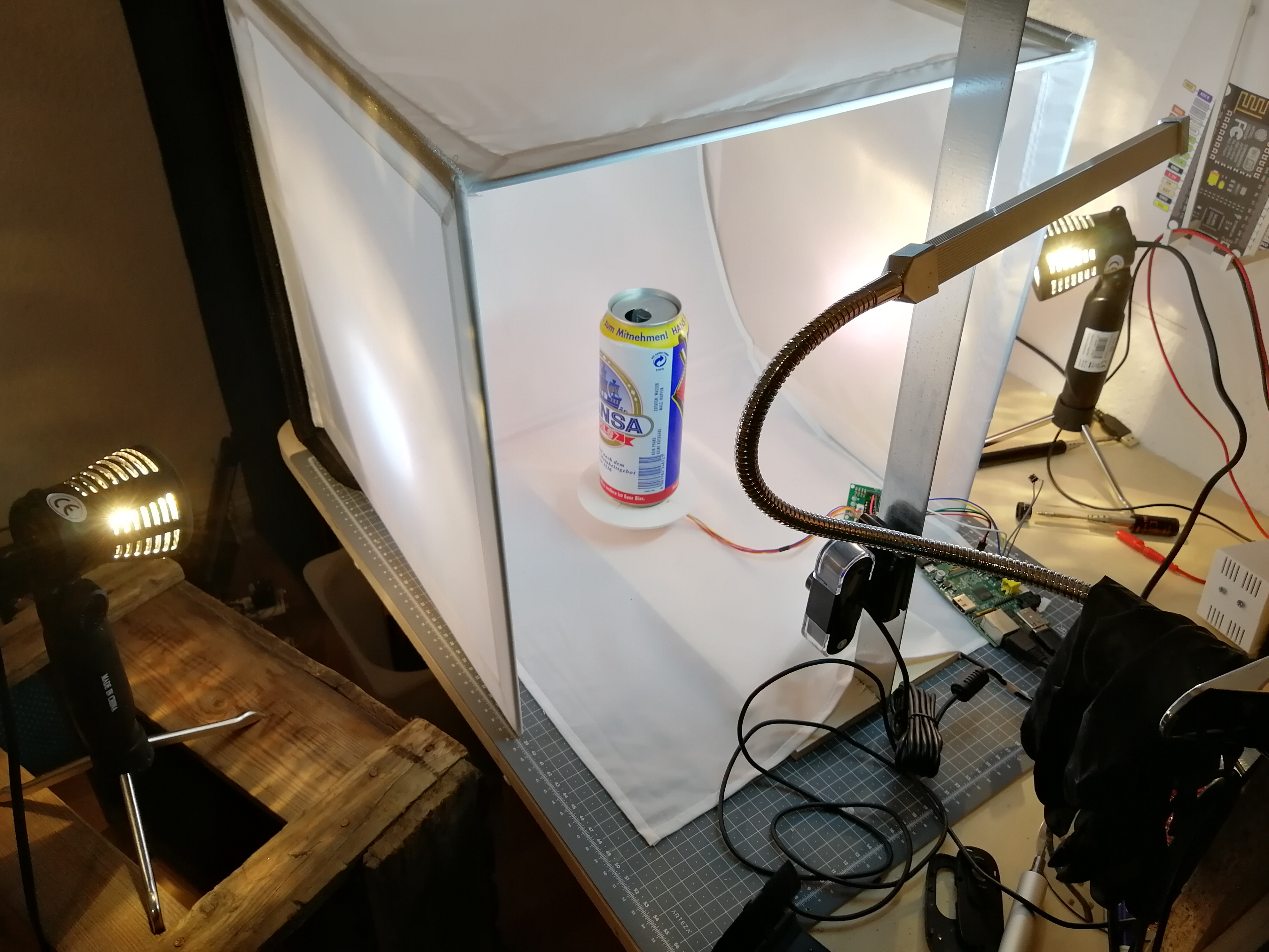 My improvised photo studio